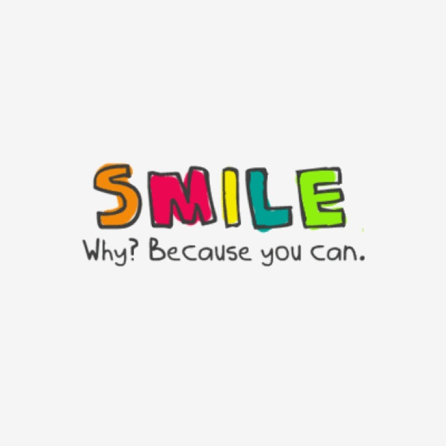 don't underestimate the power of a smile :)