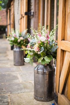 I love these entrance displays - could be for a barn wedding or the reception venue | Spring / Summer | The Tythe Barn - Wedding Venue, Private Parties & Corporate Events