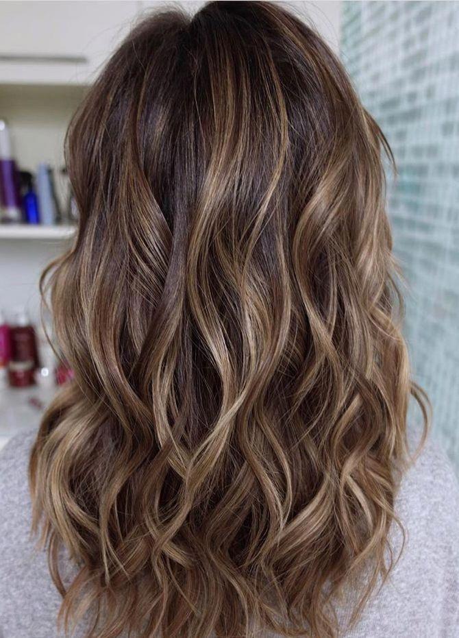Honey Bayalage met en évidence sur la base brune #brunettebalayagehair - http://digi-toptrend...