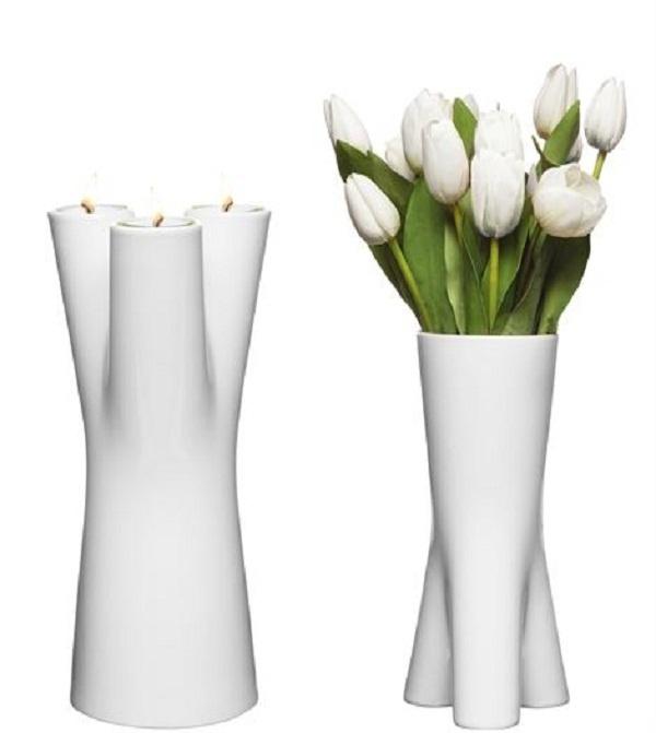 Sagaform Upside-Down Vase/Candlestick holder.