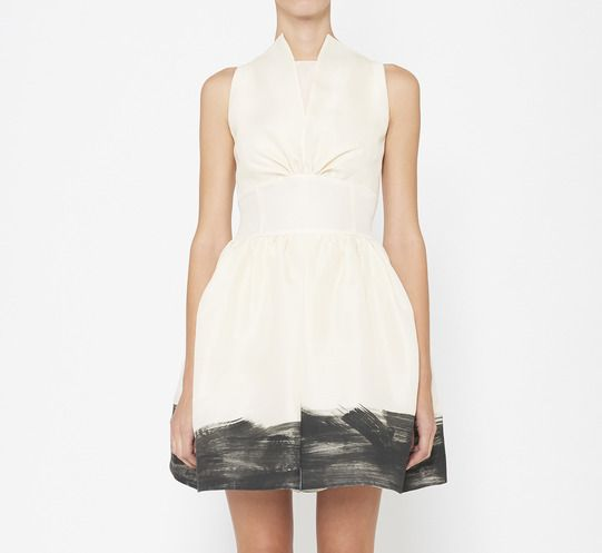 Giambattista Valli White And Black Dress