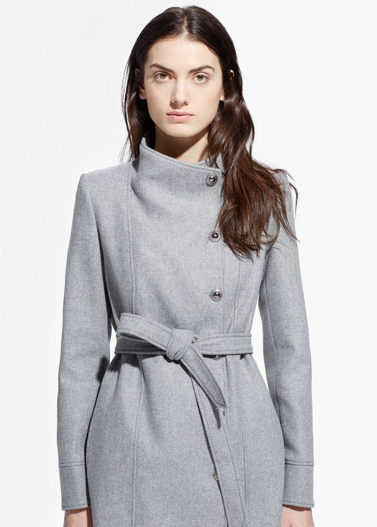 Manteau femme Mango promo manteau pas cher, achat Manteau en laine boutonné Mango prix promo Boutique Mango 149.99 €