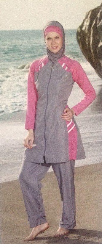 Adabkini Lavin Islamic Swimwear, Burkini, Covered Swimsuit, Modest Style
