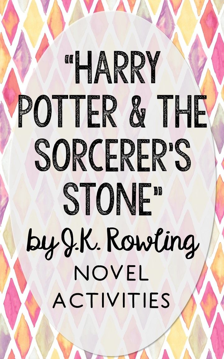 Harry Potter and the Sorcerer's Stone. This NO-PREP resource is perfect if you're looking for novel activities that are engaging and demonstrate comprehension WITHOUT multiple choice tests! This unit includes vocabulary terms, poetry, author biography research, themes, character traits, one-sentence chapter summaries, and note taking activities. You'll also find an author quote poster, a tri-fold bookmark, and character/vocabulary wall cards (plus EDITABLE cards!).