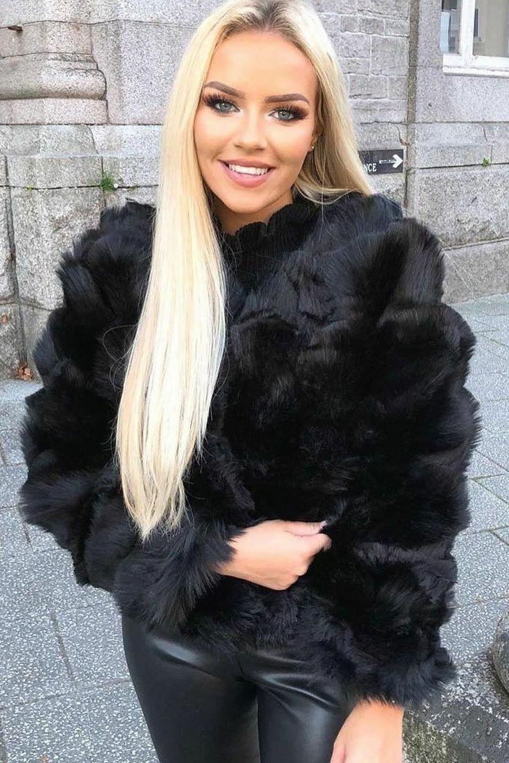 Black Fleece Teddy Trucker Jacket Plus