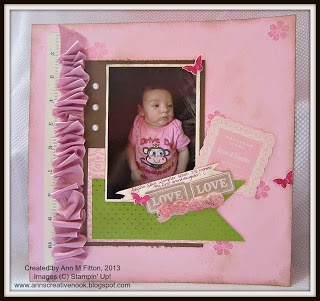 12x12 scrapbook page I made for the SU! display stamper entry. You can find all the details at my blog.Creative Stuff, Display Stampers, Stampers Entry, 12X12 Scrapbook, Creative Nooks, Stamps Scrapbook, Anne Creative, Stamps Ideas, Scrapbook Pages