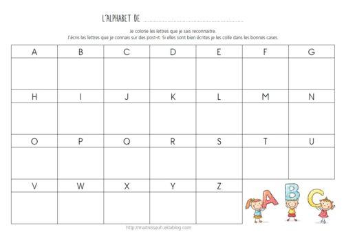 Apprendre le nom des lettres plusieurs activités