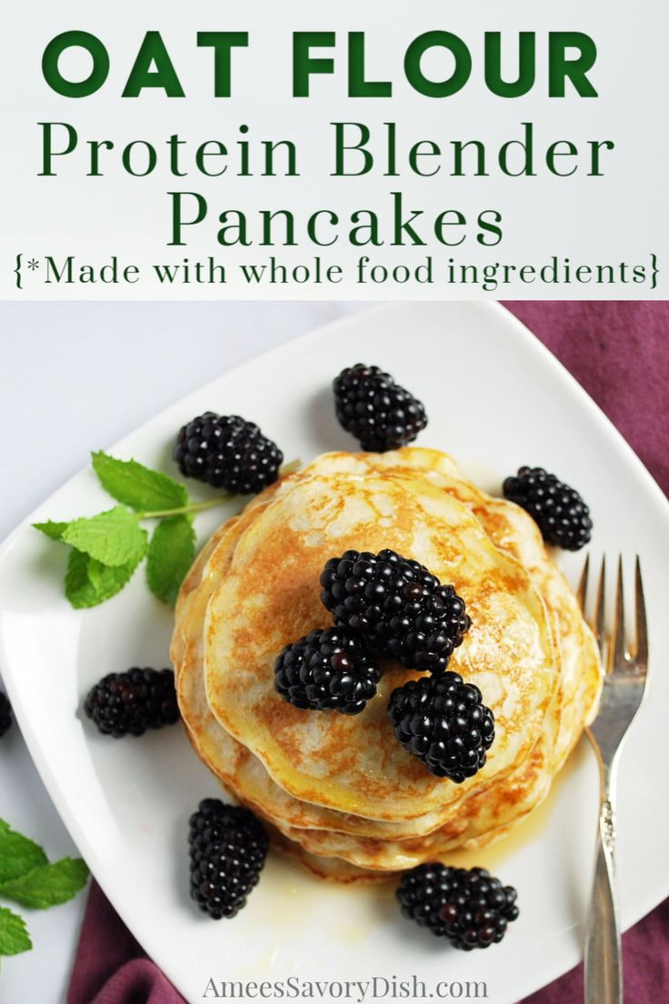 Easy whole food gluten-free Protein Blender Pancakes made with only five ingredients! These healthy pancakes are perfect…
