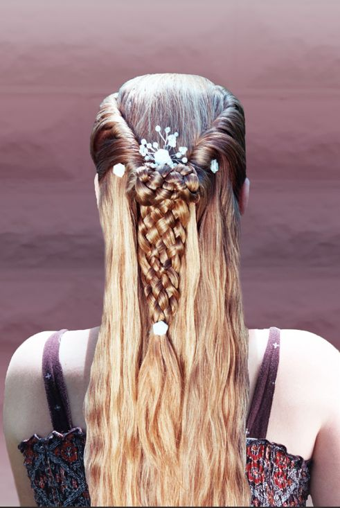 Side rolls and an 8 strand braid - no way you could do that on yourself, right?