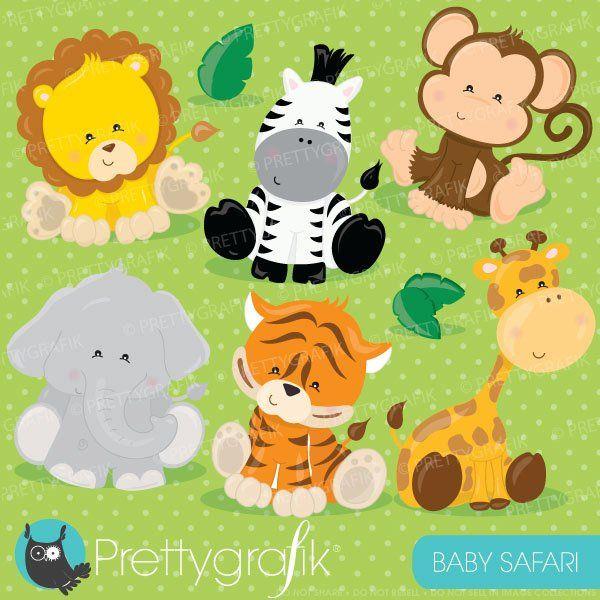 Kaufen 20 Get 10 Off Baby Safari Tiere Clipart Kommerzielle Etsy Tiere Clipart Clipart Clipart Kostenlos