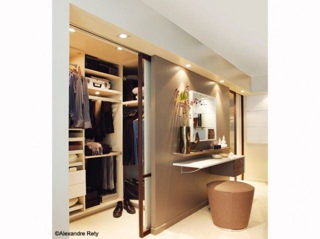 Dressing cloison coiffeuse mobalpa
