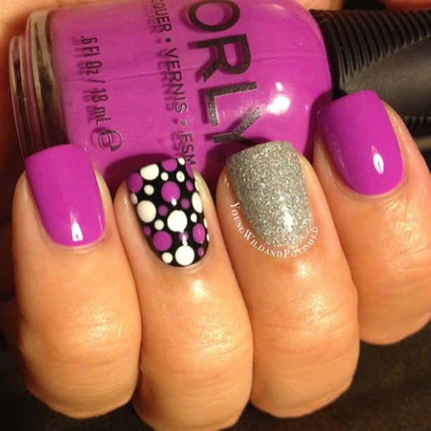 purple & polka dots