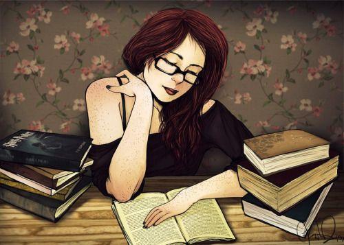 hot-tea-and-books-on-a-rainy-day:  Bookworm by khaedin