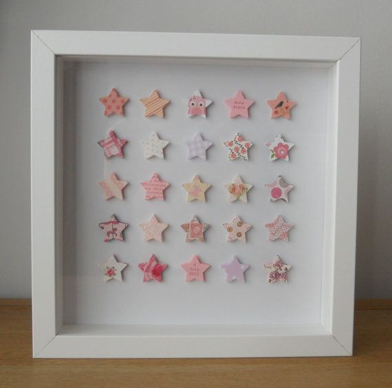 Personalised Christening Box Frame Picture by ElsieBobbins on Etsy, £25.00