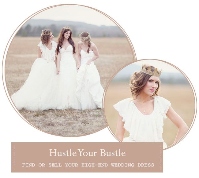 Amazing Hustle Your Bustle is an online bridal marketplace where you can find and sell upscale wedding