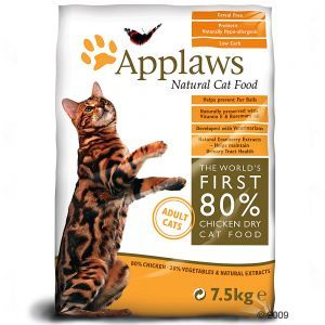Kissan kuivaruokaa! Mielellään viljatonta, tässä vain esimerkkinä viljattomista toi Applaws. Voi olla vaikka PrimaCatia tai Sanabelleakin.