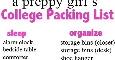 College Packing List: Update | Prep Avenue