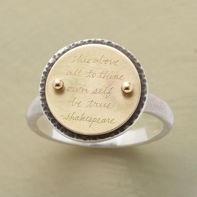 Be True RingTrue Rings, Gorgeous Rings, Sundance Catalog, Quotes Ringmust, Fashion Jewelry, Quotes Rings, Shakespeare Quotes, Sundance Jewelry Rings, A Quotes