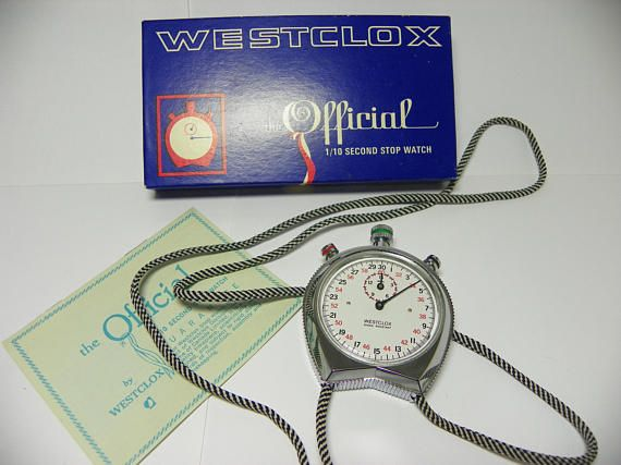 Vintage Westclox The Offical 1/10 Second Stop Watch FREE