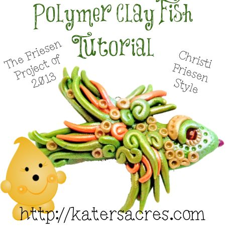 Polymer Clay Fish Tutorial on Katers Acres Clay Blog