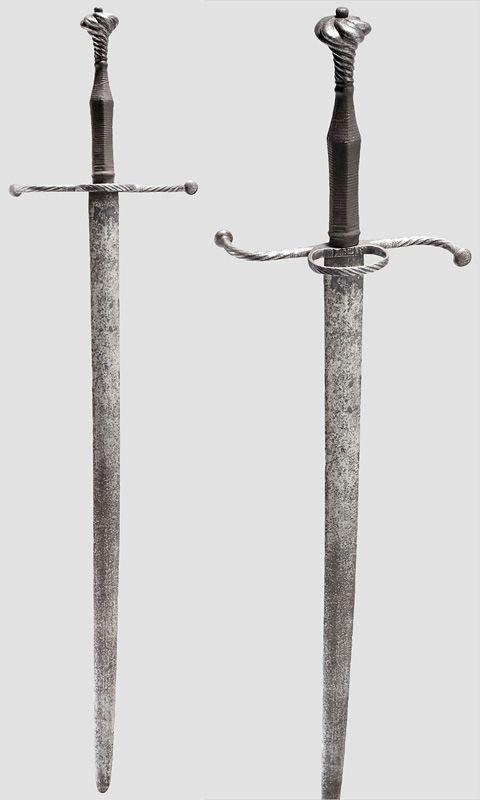 """Espadas de mano y media (o """"bastardas"""") - Alemania - C 1520"""