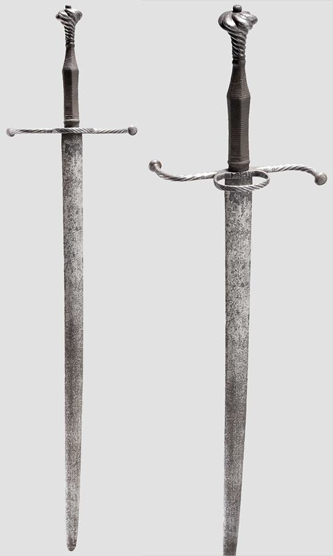 German hand-and-a-half sword Circa 1520