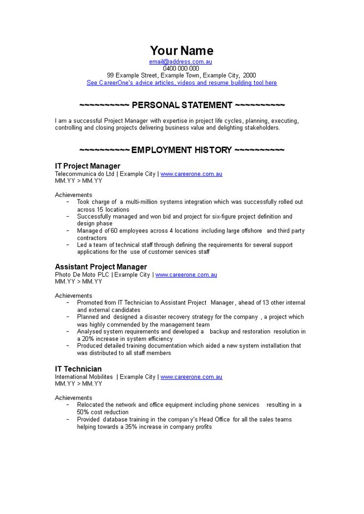 It Project Manager Resume How to create an IT Project
