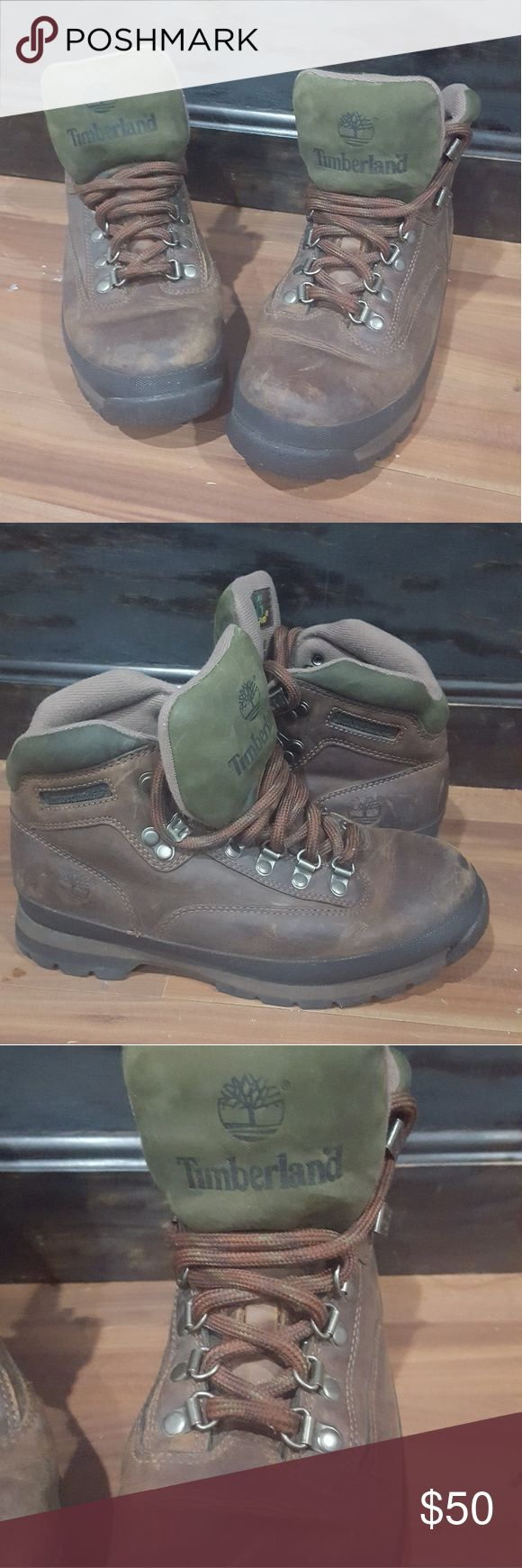Timberland Brown Boots Brown Timberland Winter Boots Size 8.5 In great condition Only worn twice Timberland Shoes Winter & Rain Boots