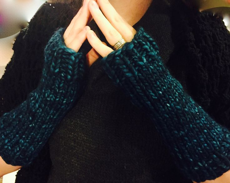 Cozy & Stylish Knitted Nyx Armwarmers by StitchNoir on Etsy