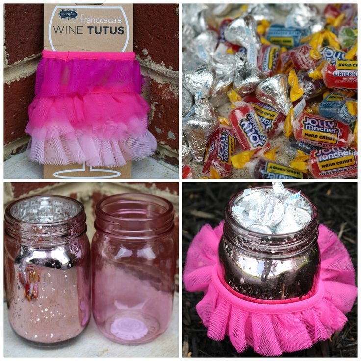 Dance Recital Gifts.  Hershey Kisses.  Jolly Ranchers.  Pink Mason Jars.  Unique Ways to Present Gifts.  Ballet Gifts.  Wine Tutus.
