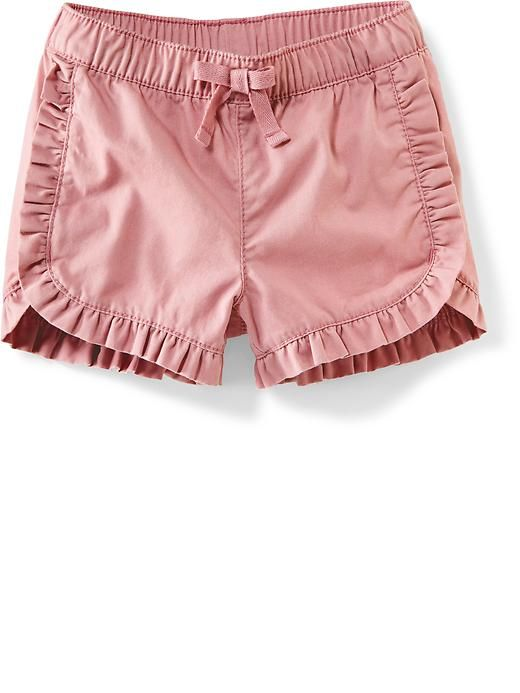 Ruffle-Trim Twill Shorts for Baby Product Image