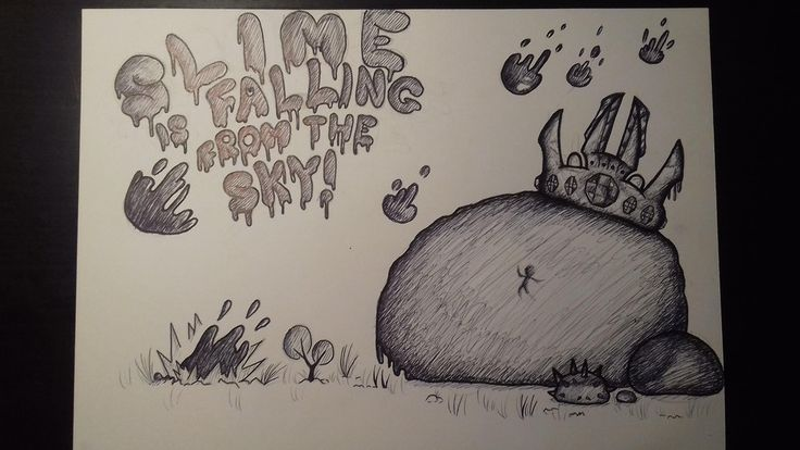 King Slime and the Slime Rain by u/WinterSolaceNO