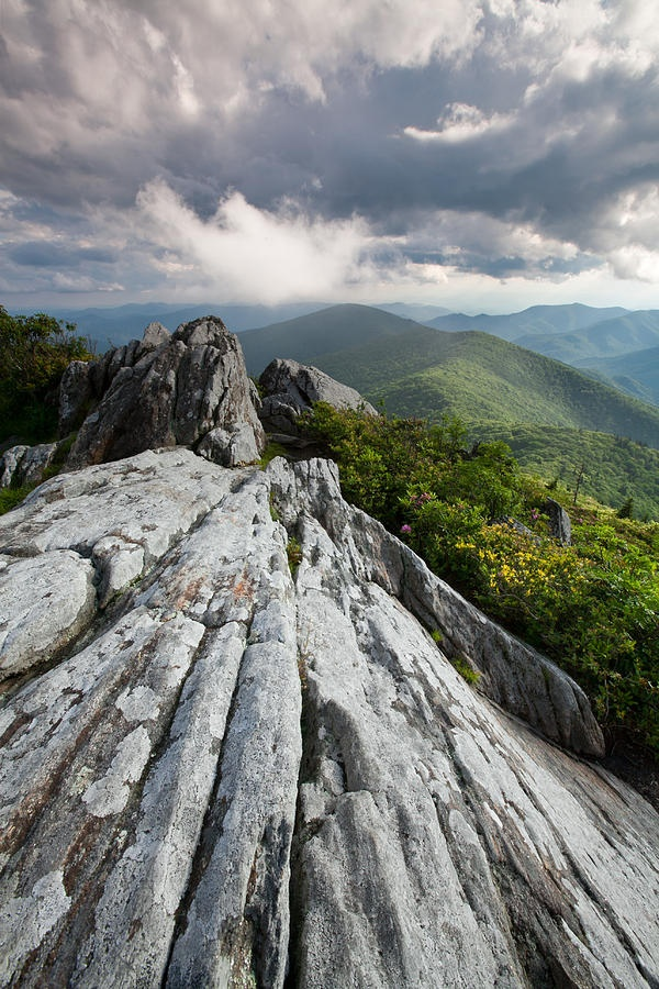 Dramatic Blue Ridge Mountain Scenic Photograph  - Dramatic Blue Ridge Mountain Scenic Fine Art Print