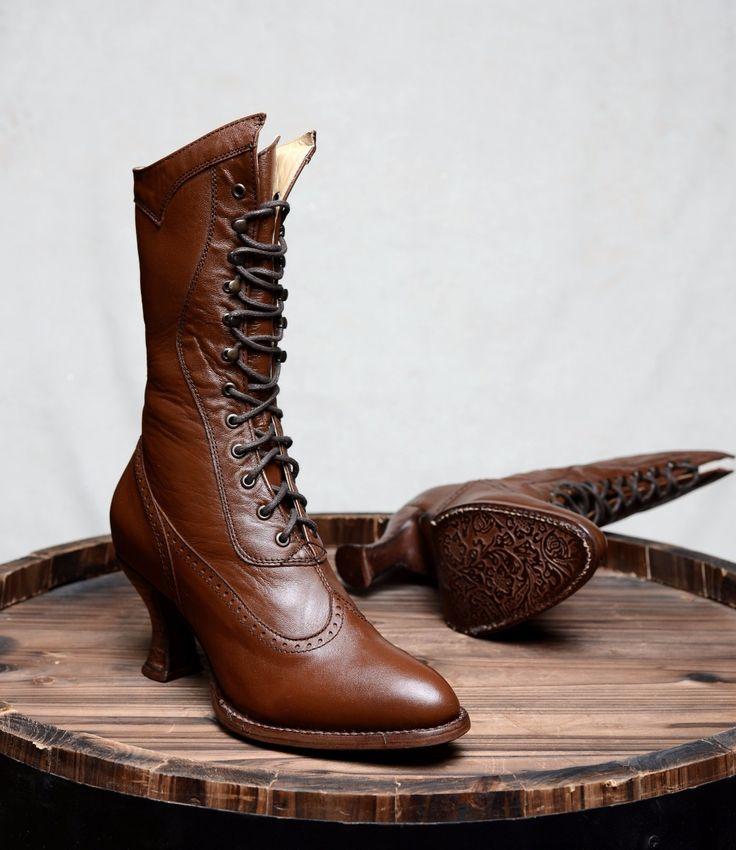 Jasmine Boot in Cognac - Oak Tree Farms
