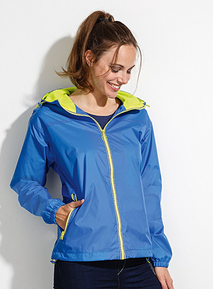 Lehká outdoorová unisex bunda v kontrastních barvách