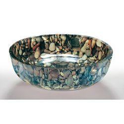 Legion Furniture Pebble Glass Bowl Vessel Bathroom Sink (1/2