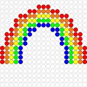 Kralenplank Regenboog