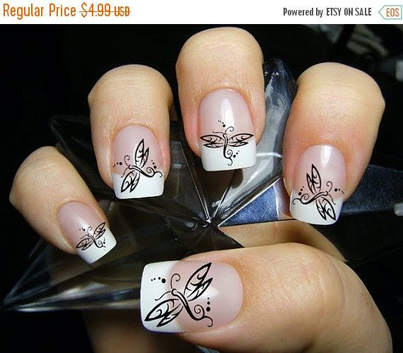 25% OFF Free Shipping - 45 Tribal DRAGONFLIES - DRAGONFLY Nail Art (Dft) - Nail Art Water Slide Transfers - Not Stickers or Vinyl