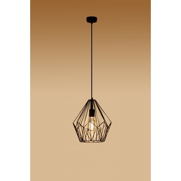 Designerska Lampa wisząca Zwis ANTIGO Czarna