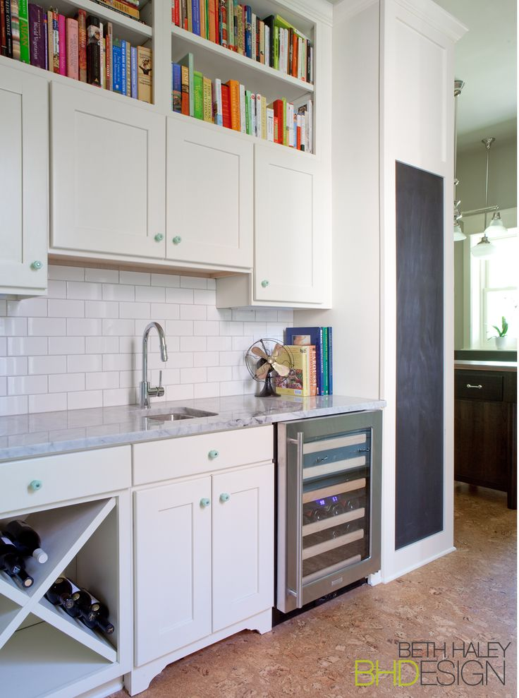 Butler's Pantry/ Wet Bar with Chalk Board Wall