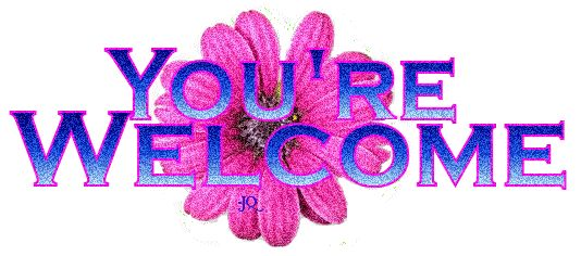 Youre-Welcome-Glitter-Graphic.gif (534×236) | Greetings ...