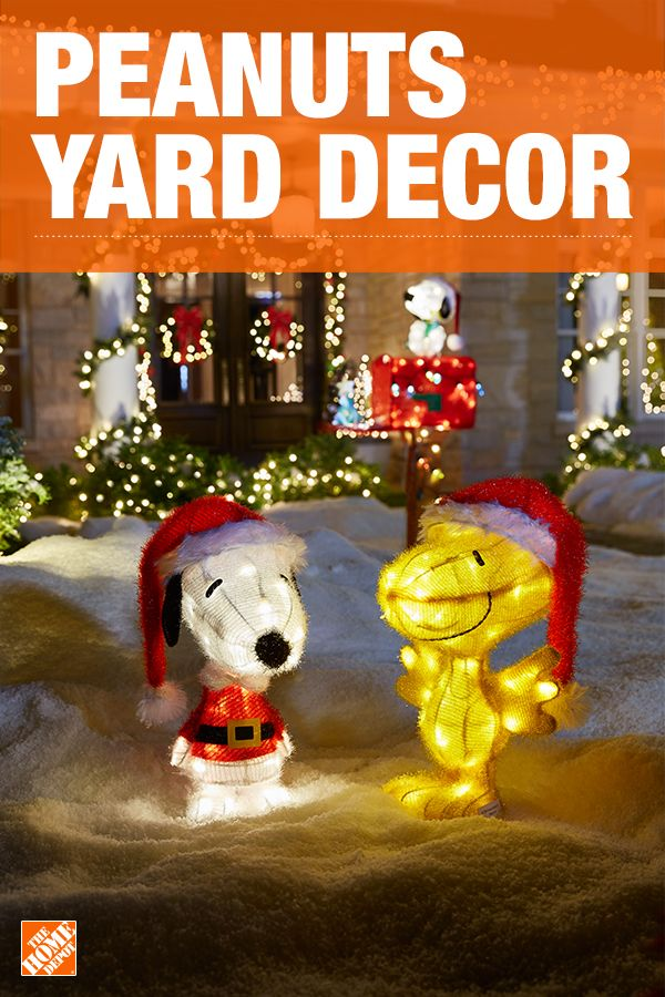Watching the Charlie Brown Christmas special will always be a favorite activity during the holiday season, and now you can bring Peanuts to your front yard with Snoopy and Woodstock LED yard art. Delight family and friends of all ages with this adorable duo. Click to shop Peanuts yard decor.