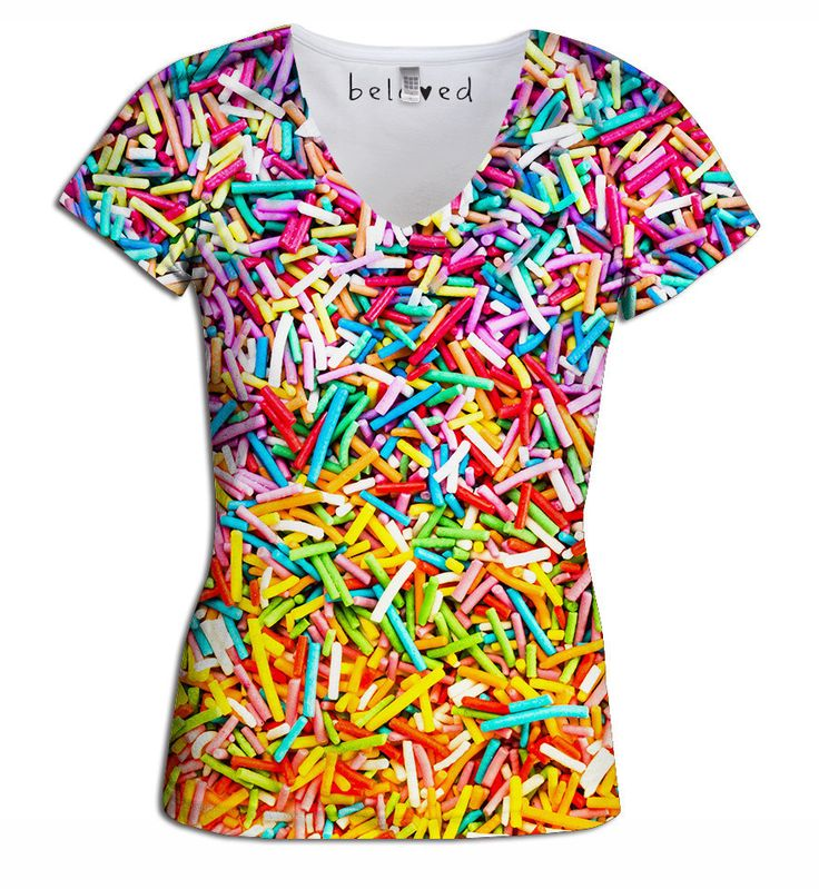 Sprinkles Women's V-Neck Tee from Beloved Shirts