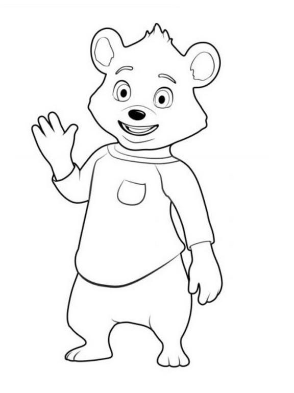 Bear From Goldie And Bear Coloring Picture Bear Coloring Pages