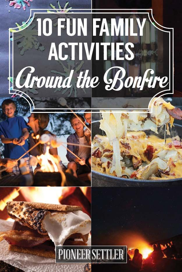 Fun Family Activities Around The Campfire | DIY Fun Games And Recipes by Pioneer Settler at http://pioneersettler.com/fun-family-activities-around-the-bonfire/