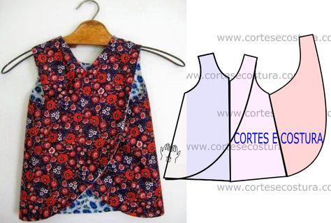 Exemplo de vestido de criança costura fácil. Tenha muita atenção à construção do molde. Em termos de costura é do mais simples que pode haver.