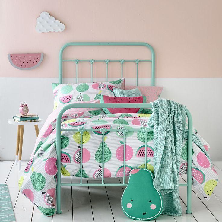 Adairs Kids Fruit Loop Quilt Cover Set, kids quilt cover set, kids doona cover