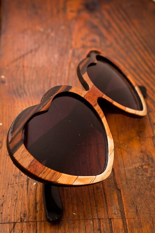 Lolita Ombre Wood Veneer Sunglasses