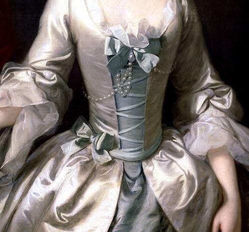 Portrait de femme (Détail) Thomas Hudson 1750