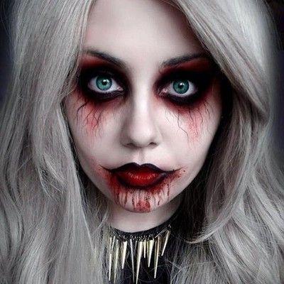 Upean taiteellinen Halloween-meikki pyhäinpäivän bileisiin